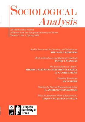 Sociological Analysis: 2009 (Issue 1)