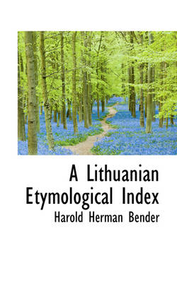 A Lithuanian Etymological Index