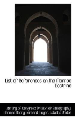 List of References on the Monroe Doctrine