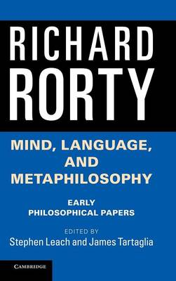 Mind, Language, and Metaphilosophy: Early Philosophical Papers