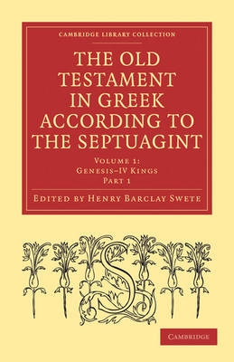 The Old Testament in Greek According to the Septuagint 2 Part Set: v. 1