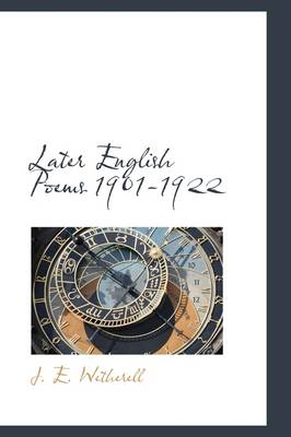 Later English Poems 1901-1922
