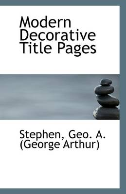 Modern Decorative Title Pages