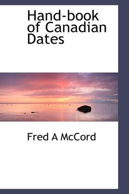 Hand-Book of Canadian Dates