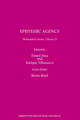 Philosophical Issues: Epistemic Agency