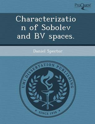 Characterization of Sobolev and Bv Spaces