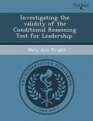 Investigating the Validity of the Conditional Reasoning Test for Leadership