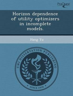 Horizon Dependence of Utility Optimizers in Incomplete Models