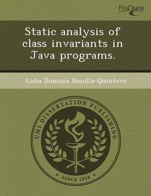 Static Analysis of Class Invariants in Java Programs