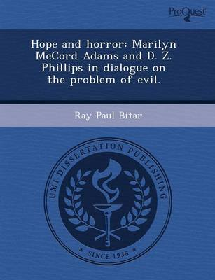 Hope and Horror: Marilyn McCord Adams and D