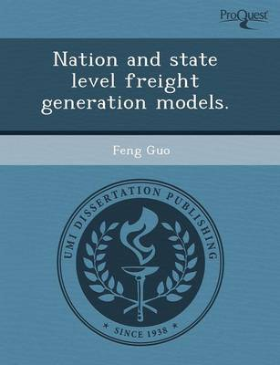 Nation and State Level Freight Generation Models