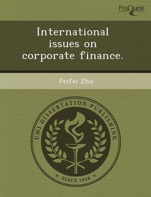 International Issues on Corporate Finance