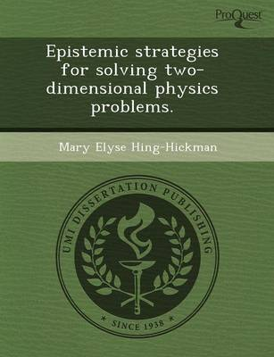 Epistemic Strategies for Solving Two-Dimensional Physics Problems