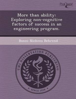 More Than Ability: Exploring Non-Cognitive Factors of Success in an Engineering Program