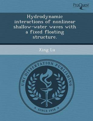 Hydrodynamic Interactions of Nonlinear Shallow-Water Waves with a Fixed Floating Structure