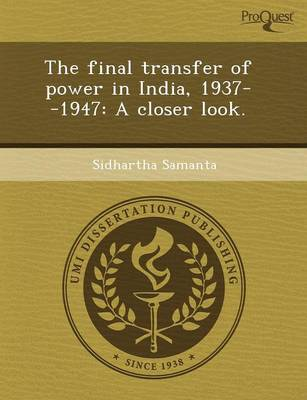 The Final Transfer of Power in India