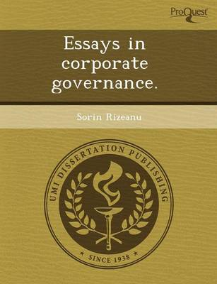 Essays in Corporate Governance