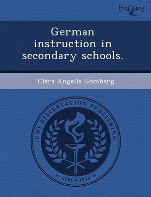 German Instruction in Secondary Schools