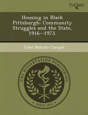 Housing in Black Pittsburgh: Community Struggles and the State