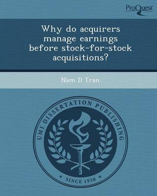 Why Do Acquirers Manage Earnings Before Stock-For-Stock Acquisitions?