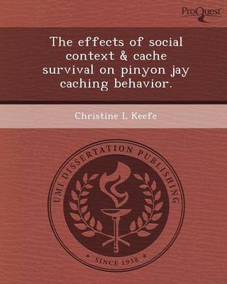 The Effects of Social Context & Cache Survival on Pinyon Jay Caching Behavior