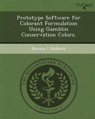 Prototype Software for Colorant Formulation Using Gamblin Conservation Colors