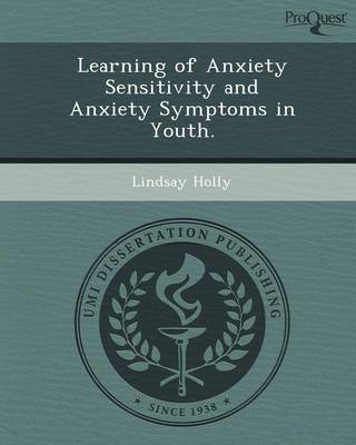 Learning of Anxiety Sensitivity and Anxiety Symptoms in Youth
