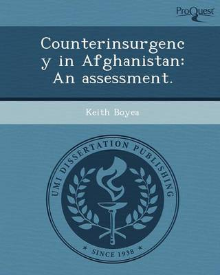 Counterinsurgency in Afghanistan: An Assessment
