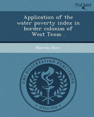Application of the Water Poverty Index in Border Colonias of West Texas