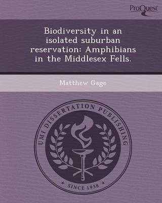 Biodiversity in an Isolated Suburban Reservation: Amphibians in the Middlesex Fells