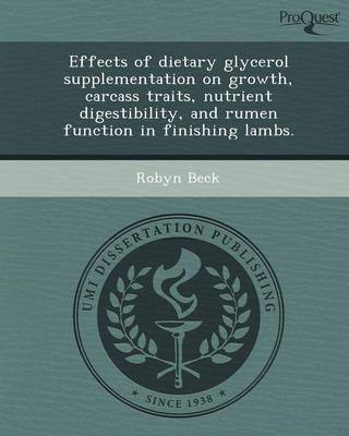 Effects of Dietary Glycerol Supplementation on Growth