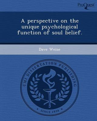 A Perspective on the Unique Psychological Function of Soul Belief