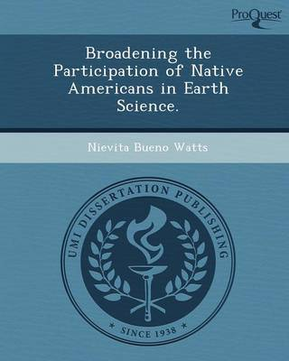 Broadening the Participation of Native Americans in Earth Science