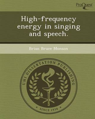 High-Frequency Energy in Singing and Speech