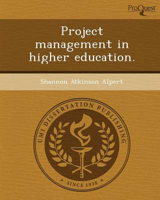 Project Management in Higher Education