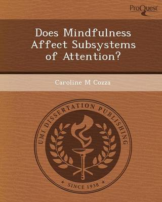 Does Mindfulness Affect Subsystems of Attention?