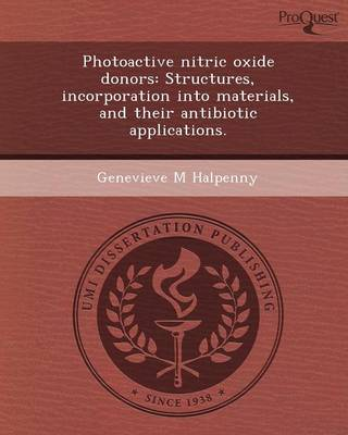 Photoactive Nitric Oxide Donors: Structures