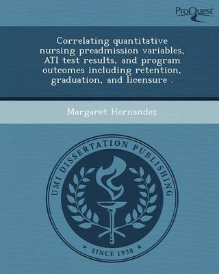 Correlating Quantitative Nursing Preadmission Variables