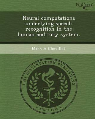 Neural Computations Underlying Speech Recognition in the Human Auditory System