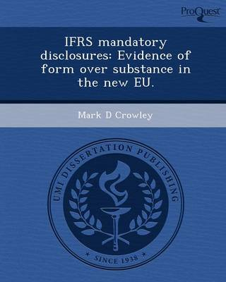 Ifrs Mandatory Disclosures: Evidence of Form Over Substance in the New Eu