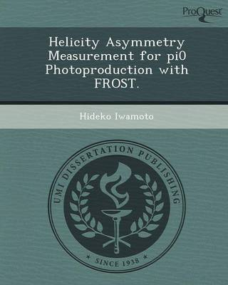 Helicity Asymmetry Measurement for Pi0 Photoproduction with Frost
