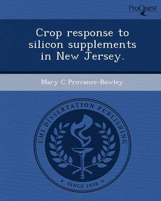 Crop Response to Silicon Supplements in New Jersey