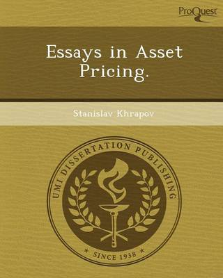 Essays in Asset Pricing