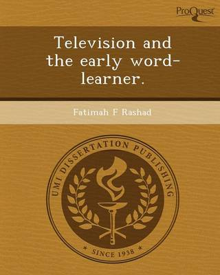Television and the Early Word-Learner