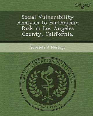 Social Vulnerability Analysis to Earthquake Risk in Los Angeles County