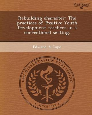 Rebuilding Character: The Practices of Positive Youth Development Teachers in a Correctional Setting