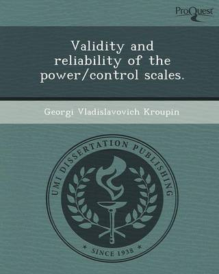 Validity and Reliability of the Power/Control Scales