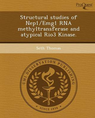 Structural Studies of Nep1/Emg1 RNA Methyltransferase and Atypical Rio3 Kinase