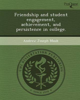 Friendship and Student Engagement