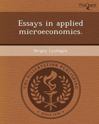 Essays in Applied Microeconomics
